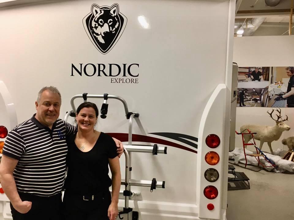 Ny visnings husbil hos Navis Powerstore i Luleå