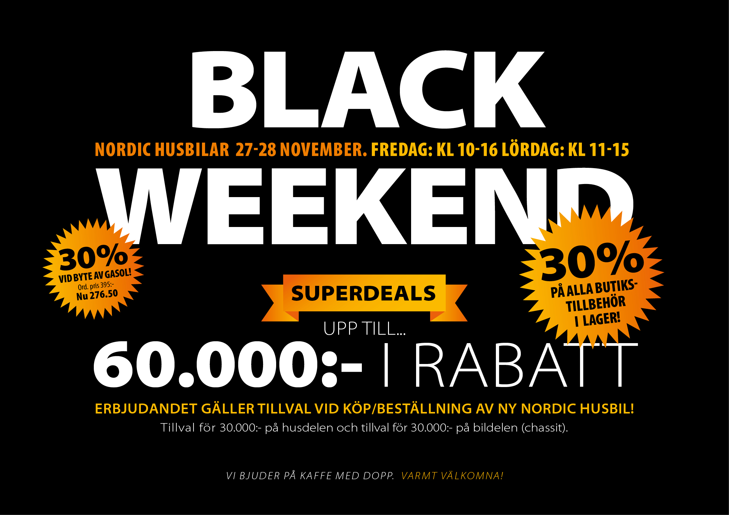 Black Weekend på Nordic Husbilar!
