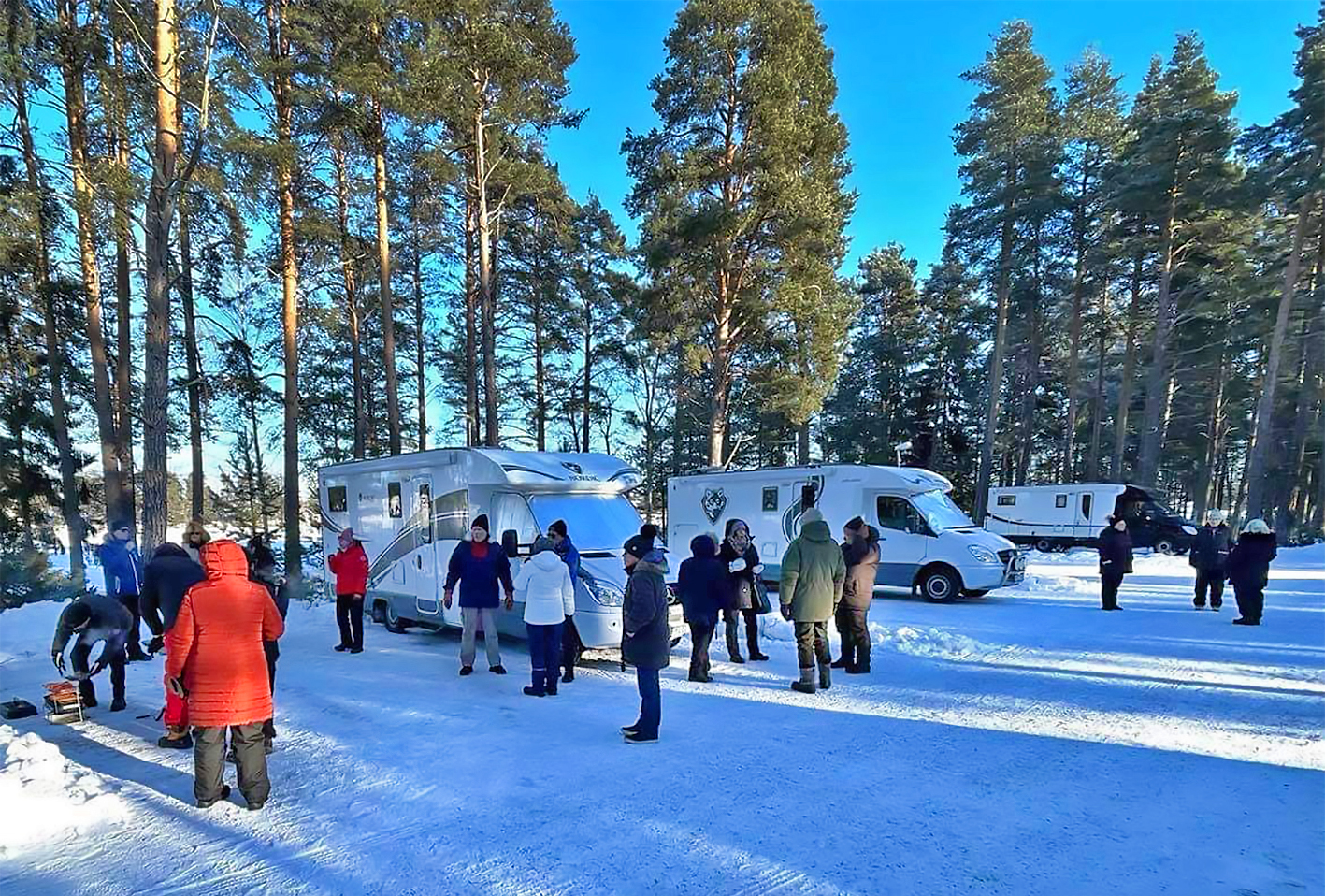 Vinterträff med Nordic husbilsklubb i Mora Parken 29-31/2.