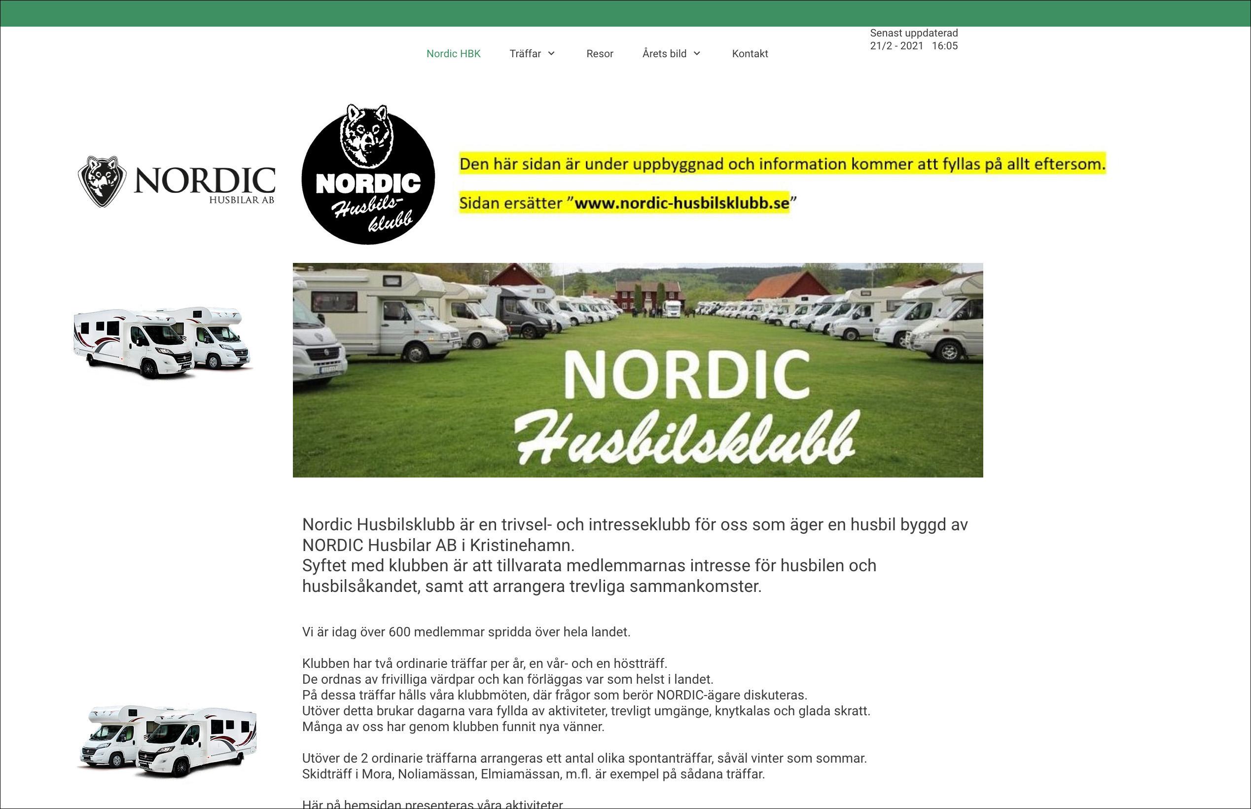 Nu finns www.nordic-husbilsklubb.nu att titta in på!